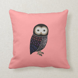 Wildlife Owl Woodland Cute Funny Wild Owl Graphic Pillow