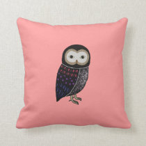 Wildlife Owl Woodland Cute Funny Wild Owl Graphic Throw Pillow
