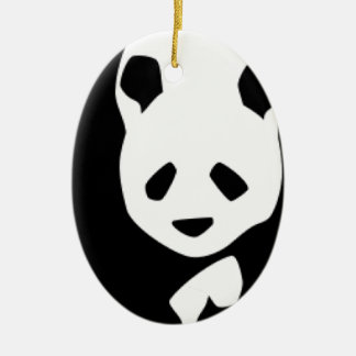 WILDLIFE PANDER CERAMIC ORNAMENT