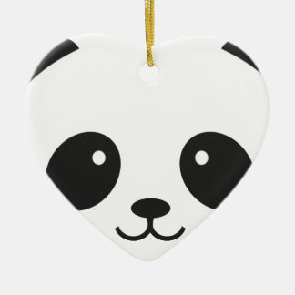 WILDLIFE PANDER FACE CERAMIC ORNAMENT