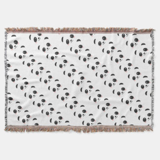 WILDLIFE PANDER FACE THROW BLANKET