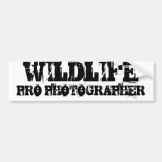 WILDLIFE PRO PHOTOGRAPHER Bumper Sticker
