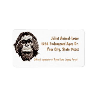 Wildlife Rain Forest Legacy Campaign Label
