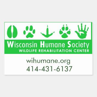 Wildlife Rehabilitation Center Logo Rectangular Sticker