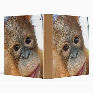 Wildlife Rescue : Cute Baby Orangutan 3 Ring Binder