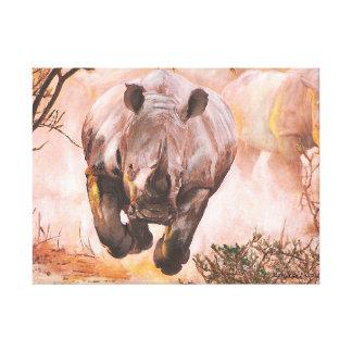 Wildlife Rhino Canvas Print