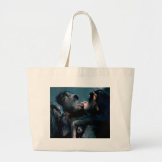 Wildlife Set - Primates 6 Large Tote Bag