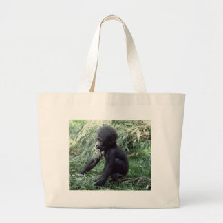 Wildlife Set - Primates 8 Large Tote Bag