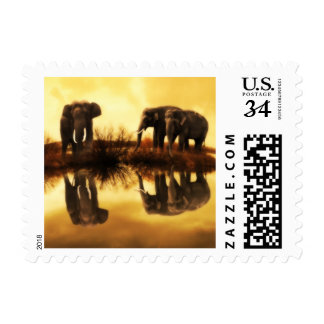 Wildlife Stamp Elephant Small