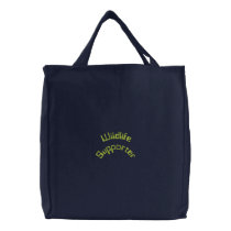 Wildlife Supporter Embroidered Tote Bag