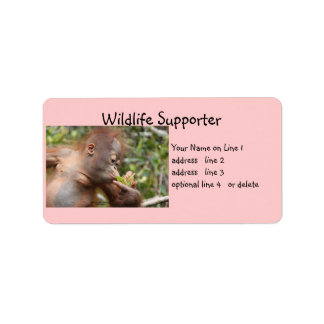 Wildlife Supporter Personalized Address Labels