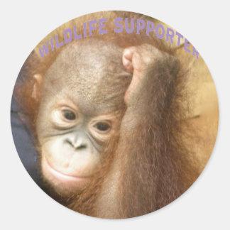 Wildlife Supporter Sticker
