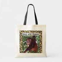 Wildlife Sweet Baby Animal Tote Bag