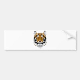 wildlife tiger head animal design bumper sticker