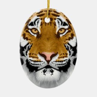 wildlife tiger head animal design ceramic ornament