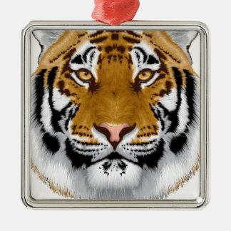 wildlife tiger head animal design metal ornament