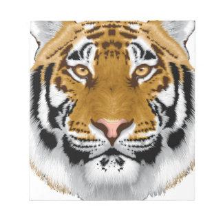 wildlife tiger head animal design note pads