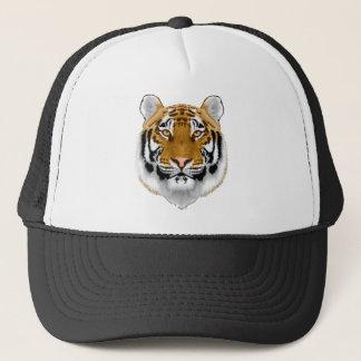 wildlife tiger head animal design trucker hat