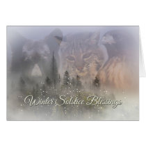 Wildlife Winter Solstice Blessings Card