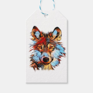 Wildlife Wolf Art Gift Tags