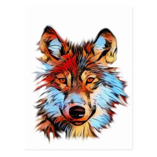Wildlife Wolf Art Postcard