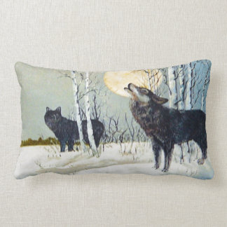 wildlife wolf pillow.JPG Lumbar Pillow