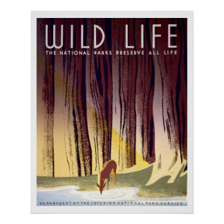 Wildlife WPA Poster (Deer)