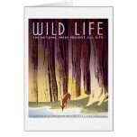 Wildlife WPA Poster (Deer) Card