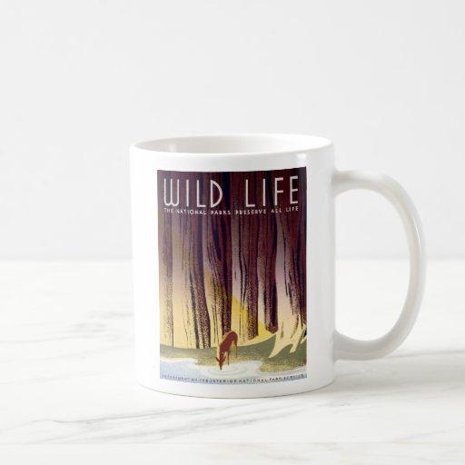 Wildlife WPA Poster (Deer) Coffee Mugs