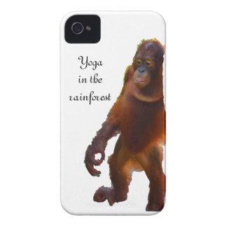 Wildlife Yoga in Rainforest iPhone 4 Case-Mate Case