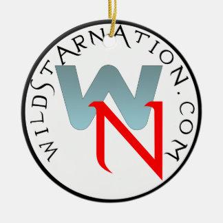 Wildstar Nation Round Logo Ceramic Ornament