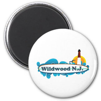 Wildwood. 2 Inch Round Magnet