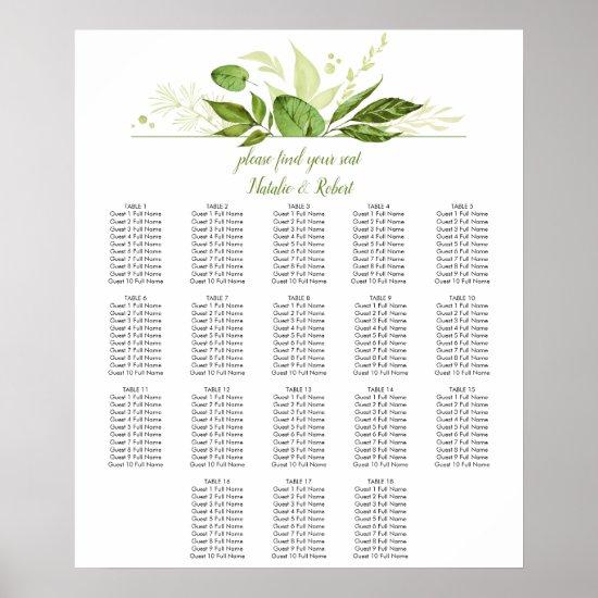 Wildwood Botanicals Eucalyptus Seating Chart