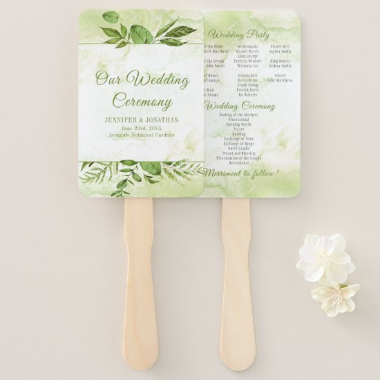 Wildwood Botanicals Rustic Greenery Program Fans