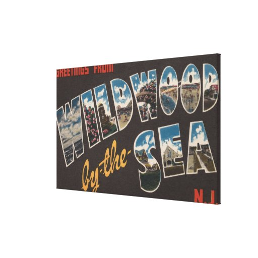 Wildwood-by-the-Sea, New Jersey 2 Gallery Wrapped Canvas