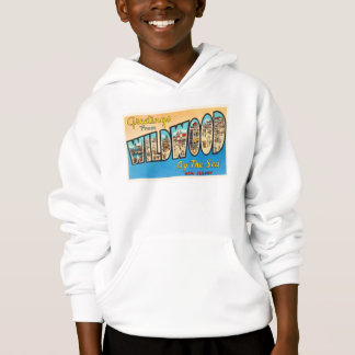 Wildwood by the Sea New Jersey NJ Vintage Postcard Hoodie