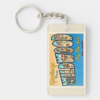 Wildwood by the Sea New Jersey NJ Vintage Postcard Keychain