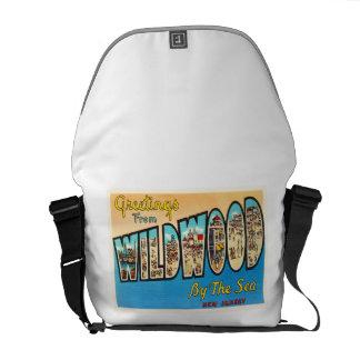Wildwood by the Sea New Jersey NJ Vintage Postcard Messenger Bag