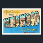 "Wildwood by the Sea New Jersey NJ Vintage Postcard Photo Print<br><div class=""desc"">Wildwood by the Sea,  New Jersey NJ