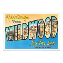 Wildwood by the Sea New Jersey NJ Vintage Postcard Photo Print