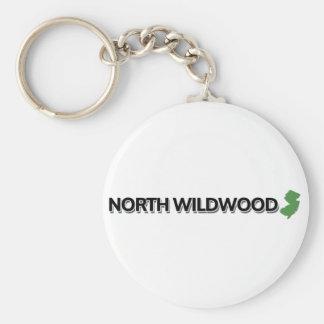 Wildwood del norte, New Jersey Llavero Redondo Tipo Pin