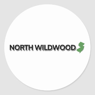Wildwood del norte, New Jersey Pegatina Redonda