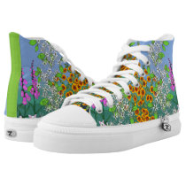 Wildwood Floral by Aleta High-Top Sneakers