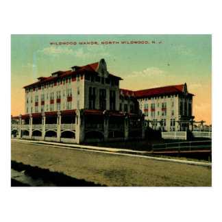 Wildwood Manor, North Wildwood, New Jersey Vintage Postcard