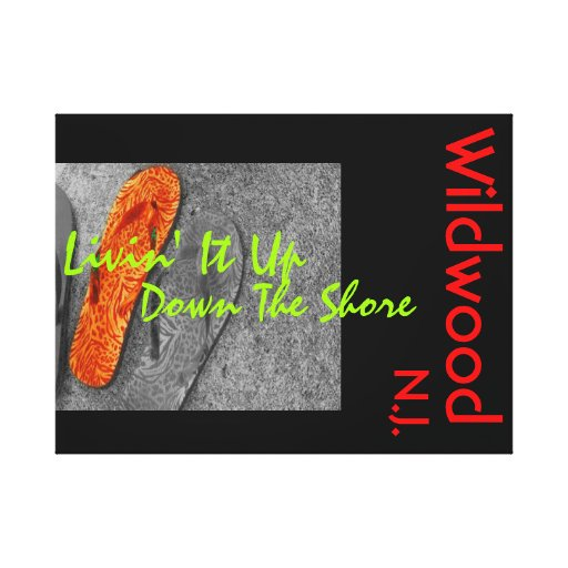 Wildwood NJ Lona Envuelta Para Galerías