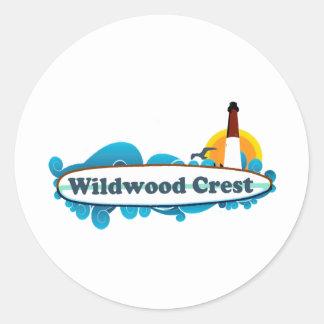 Wildwood. Pegatina Redonda