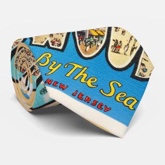 Wildwood por la postal del vintage de New Jersey Corbatas Personalizadas