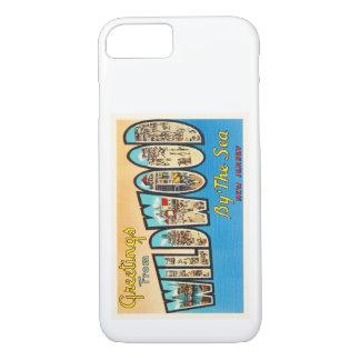 Wildwood por la postal del vintage de New Jersey Funda iPhone 7