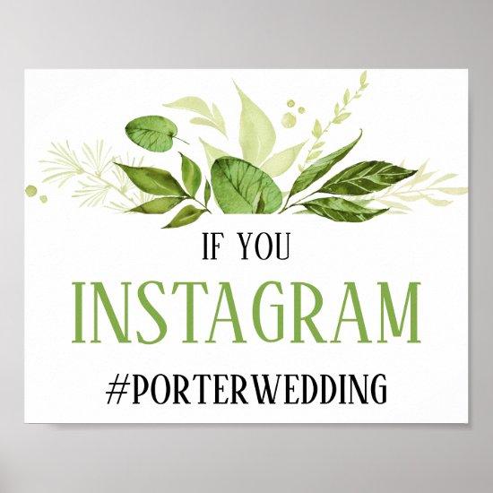 Wildwoods Botanical Instagram Sign