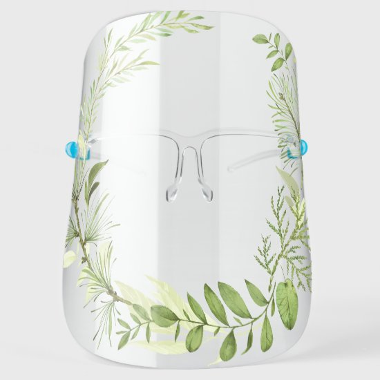 Wildwoods Botanicals Eucalyptus Ferns Greenery Face Shield